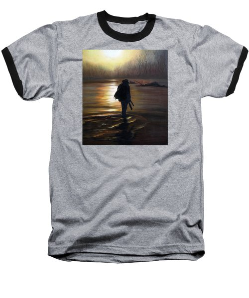 Baseball T-Shirt featuring the painting Crossing The River by Vesna Martinjak