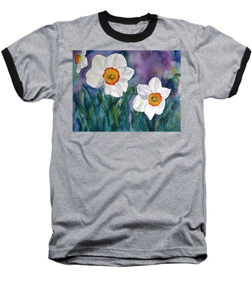 Baseball T-Shirt featuring the painting Daffodil Dream by Anna Ruzsan