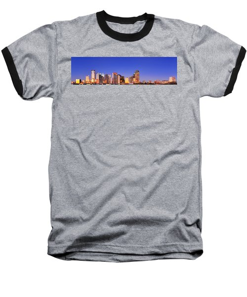 Baseball T-Shirt featuring the photograph Dallas At Dawn by David Perry Lawrence
