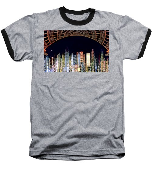Baseball T-Shirt featuring the photograph Dallas At Night by David Perry Lawrence