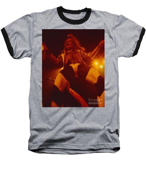 David Lee Roth - Van Halen At The Oakland Coliseum 12-2-1978 Rare Unreleased Baseball T-Shirt