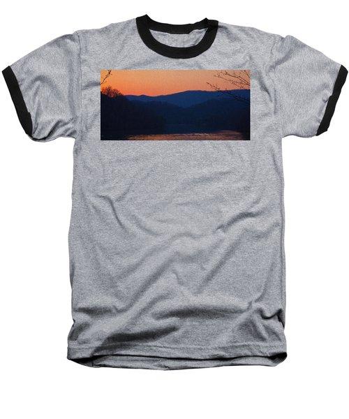 Days End Baseball T-Shirt by Tom Culver