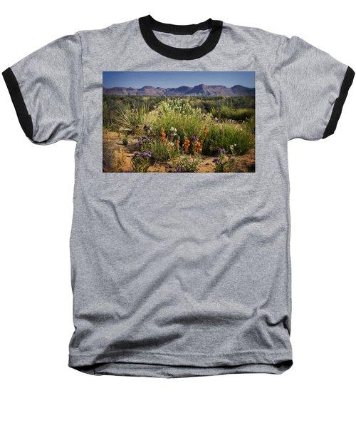 Desert Wildflowers Baseball T-Shirt by Saija  Lehtonen