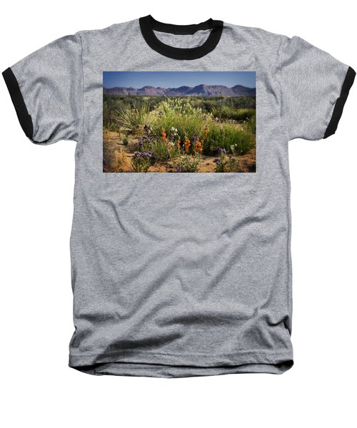 Desert Wildflowers Baseball T-Shirt