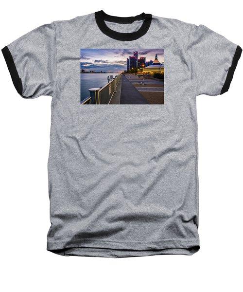 Detroit River Walk Baseball T-Shirt
