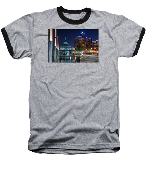 Detroit Riverwalk  Baseball T-Shirt