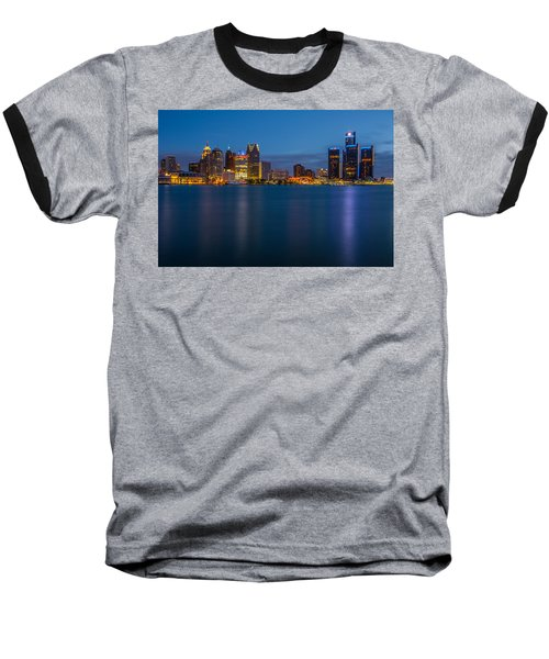 Detroit Skyline Baseball T-Shirt