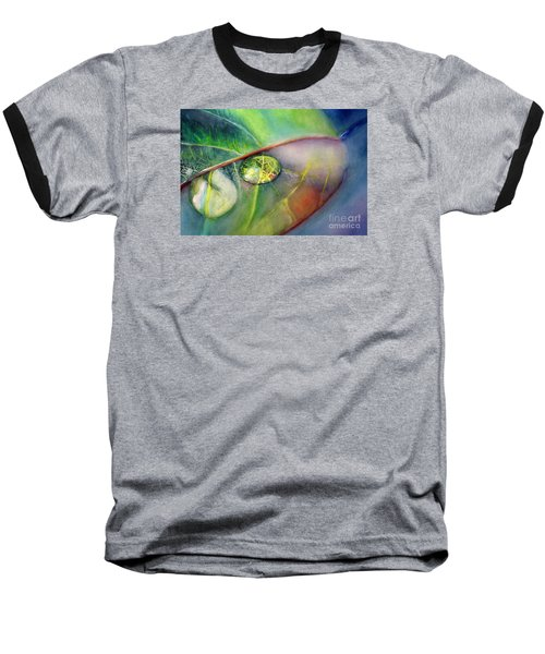 Baseball T-Shirt featuring the painting Drops by Allison Ashton