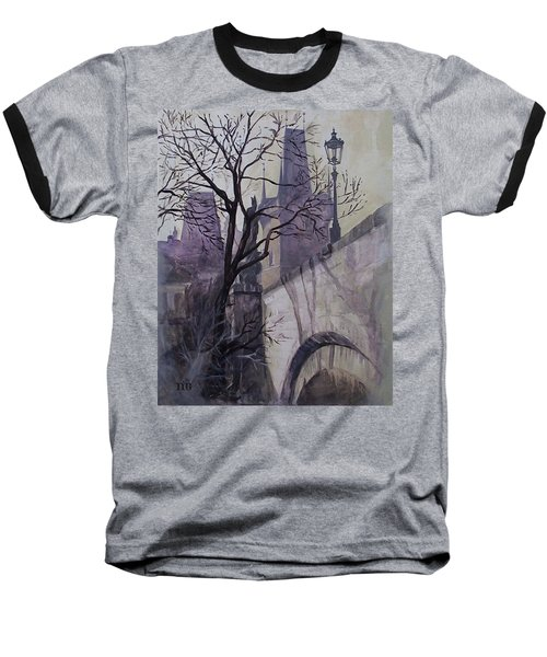 Dusk At The Charles Bridge Baseball T-Shirt by Marina Gnetetsky