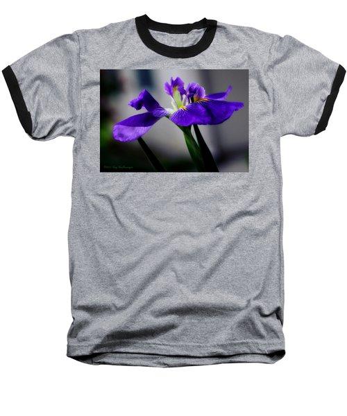 Elegant Iris Baseball T-Shirt