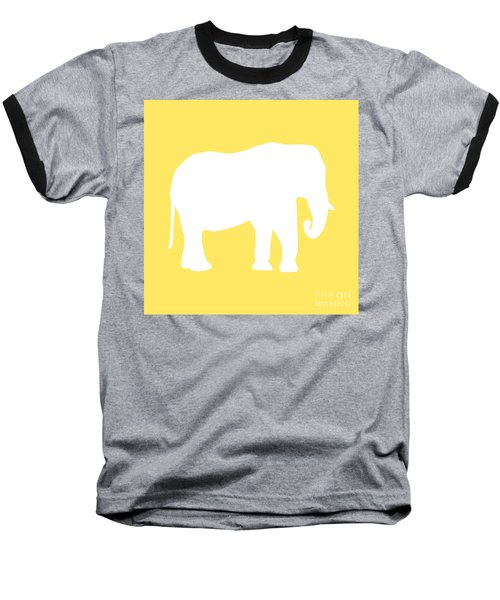 Elephant In Yellow And White Baseball T-Shirt