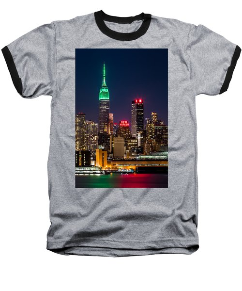 Empire State Building On Saint Patrick's Day Baseball T-Shirt