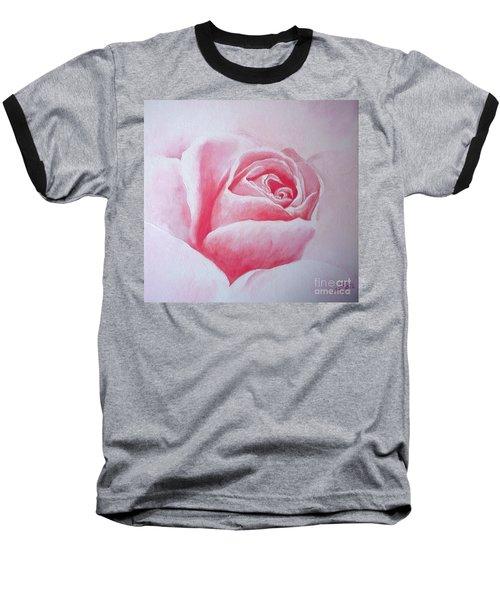 Baseball T-Shirt featuring the painting English Rose by Sandra Phryce-Jones