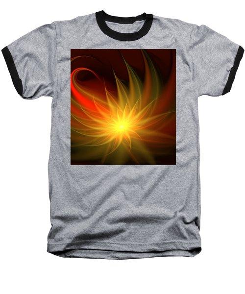 Exotic Flower Baseball T-Shirt