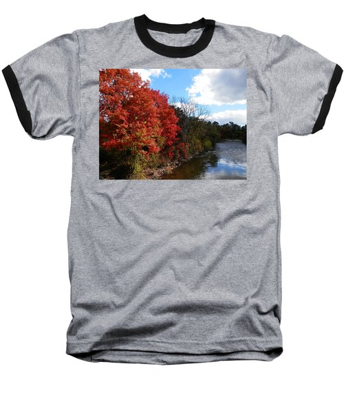 Fall At The Credit River Baseball T-Shirt