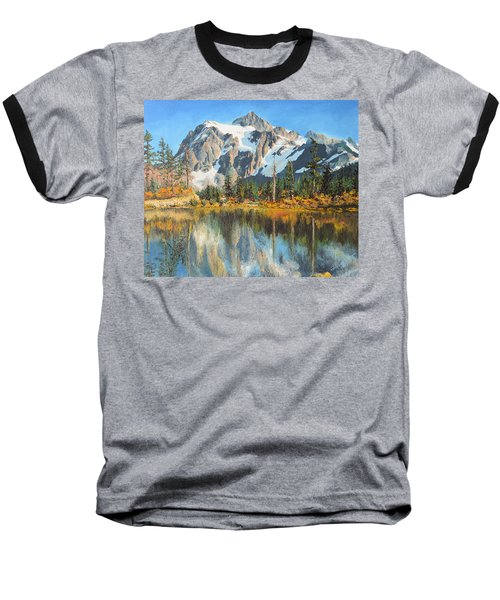 Fall Reflections - Cascade Mountains Baseball T-Shirt