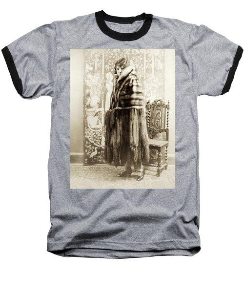 Baseball T-Shirt featuring the photograph Fashion Fur, 1925 by Granger