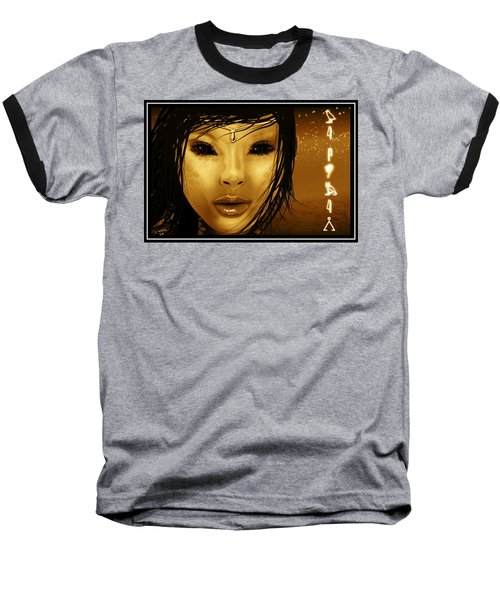 Alien Witch Baseball T-Shirt by John Wills