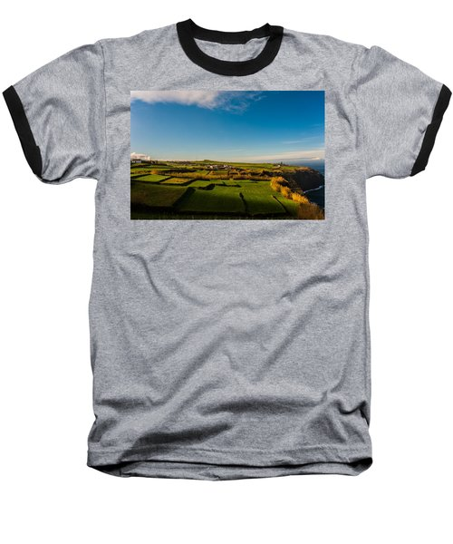 Fields Of Green And Yellow Baseball T-Shirt