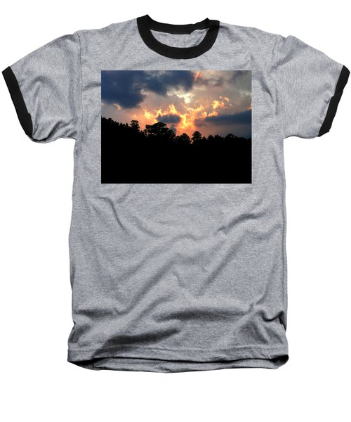 Fire In The Sky Baseball T-Shirt by Craig T Burgwardt