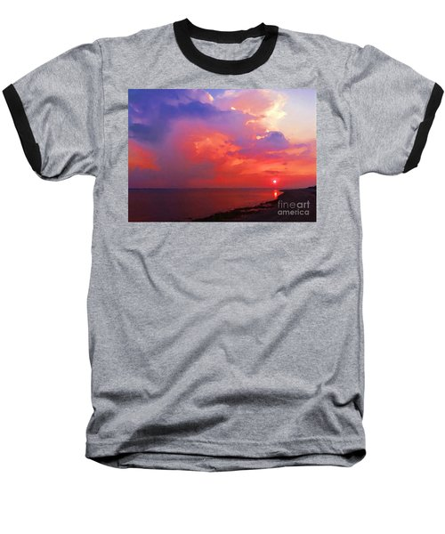Baseball T-Shirt featuring the photograph Fire In The Sky by Holly Martinson