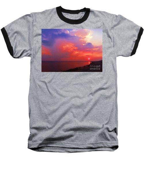 Fire In The Sky Baseball T-Shirt