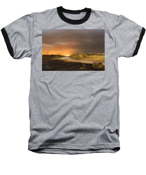 Fire On The Horizon Baseball T-Shirt