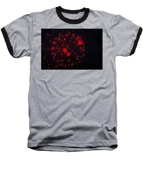 Fireworks Baseball T-Shirt by Rowana Ray