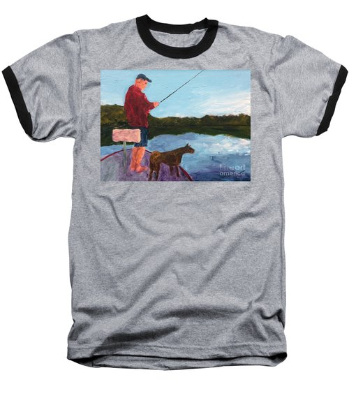 Fishing Baseball T-Shirt by Donald J Ryker III
