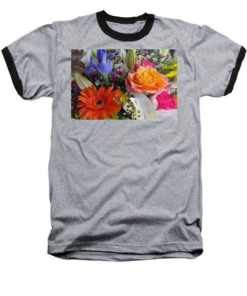 Floral Bouquet 5 Baseball T-Shirt