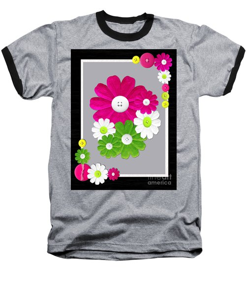 Baseball T-Shirt featuring the photograph  Delightful Florals by Tina M Wenger