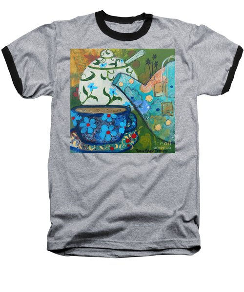Floral Tea Baseball T-Shirt
