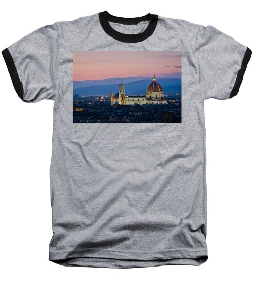 Florence At Sunset Baseball T-Shirt