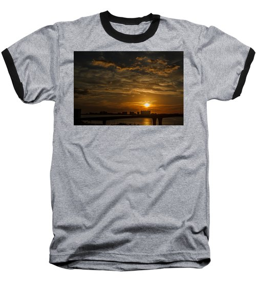 Baseball T-Shirt featuring the photograph Florida Sunset by Jane Luxton