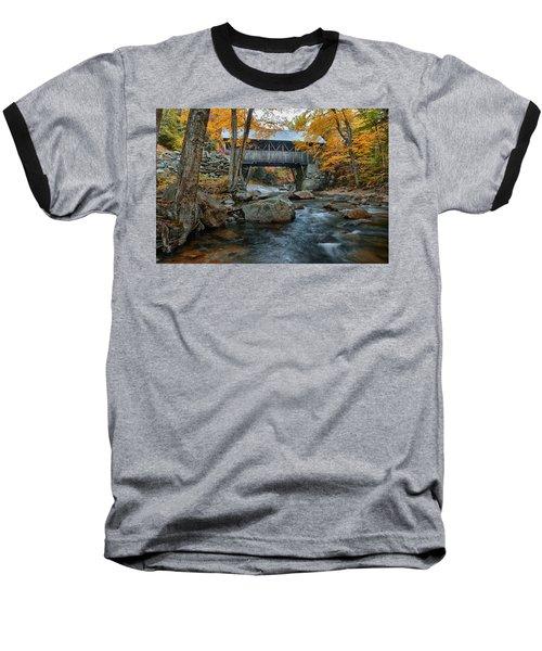 Flume Gorge Covered Bridge Baseball T-Shirt