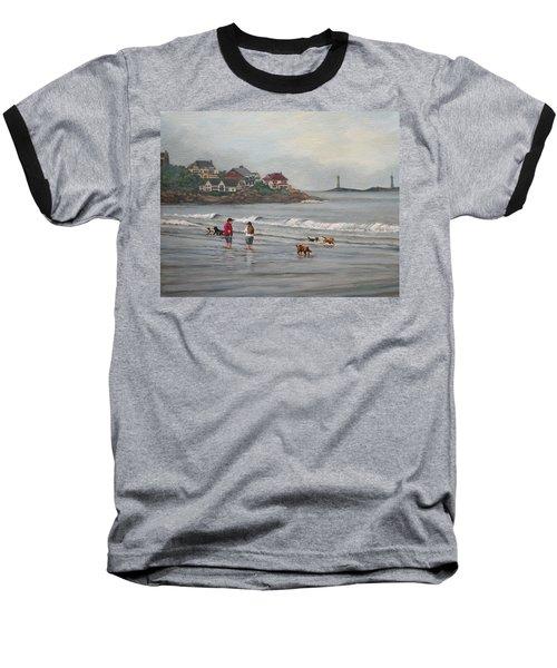 Fog Rolling In On Good Harbor Beach Baseball T-Shirt by Eileen Patten Oliver
