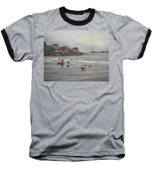 Fog Rolling In On Good Harbor Beach Baseball T-Shirt