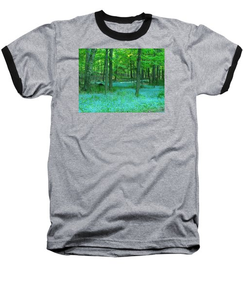 Forget-me-nots In Peninsula State Park Baseball T-Shirt by David T Wilkinson