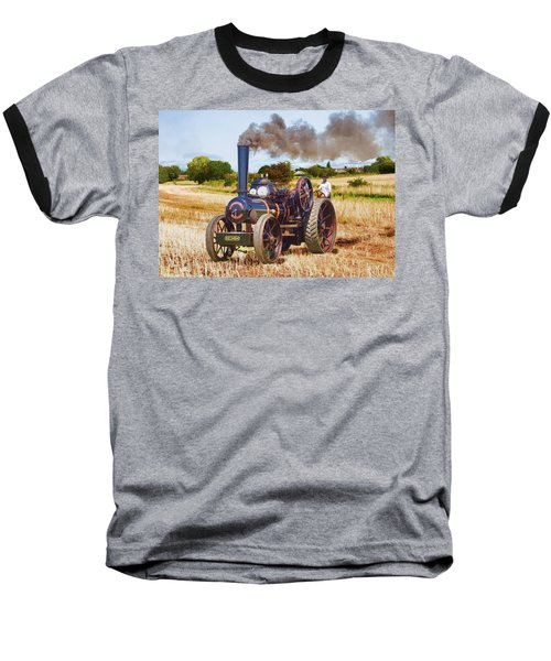 Fowler Ploughing Engine Baseball T-Shirt