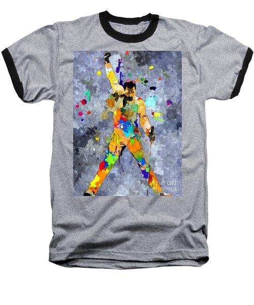 Freddie Mercury Baseball T-Shirt by Daniel Janda