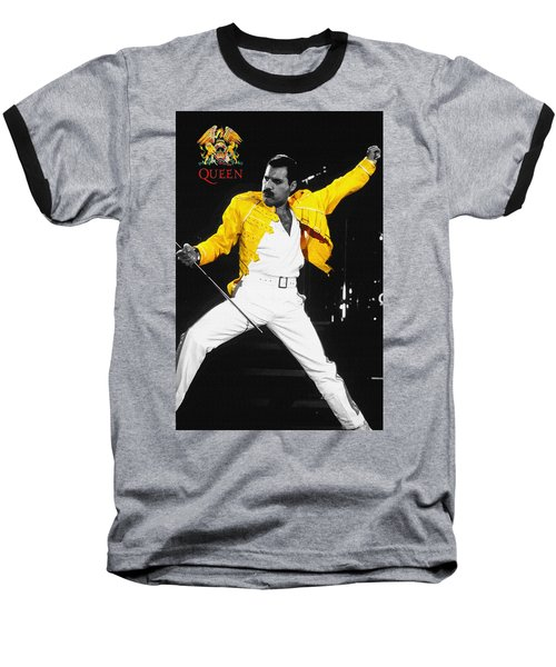 Freddie Mercury Live In Wembley1986    Baseball T-Shirt