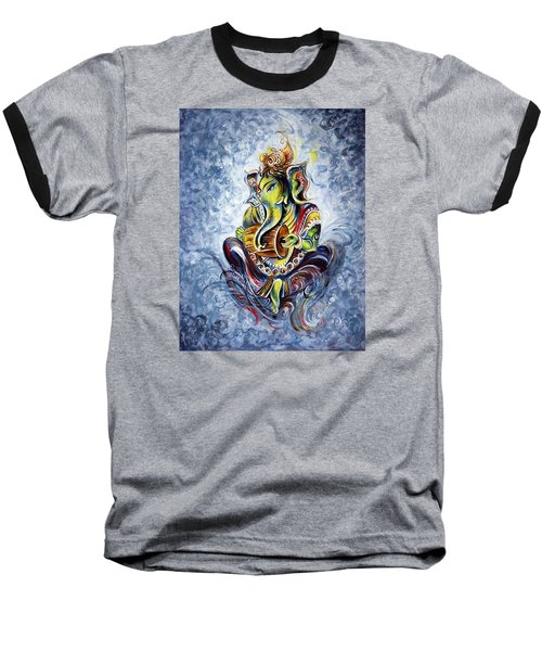 Musical Ganesha Baseball T-Shirt