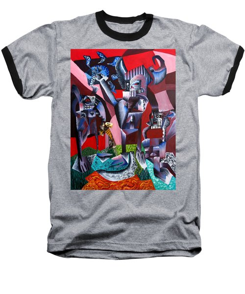Gaungian Dimensional Baseball T-Shirt by Ryan Demaree