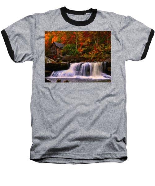 Glade Creek Grist Mill Baseball T-Shirt by Chris Flees
