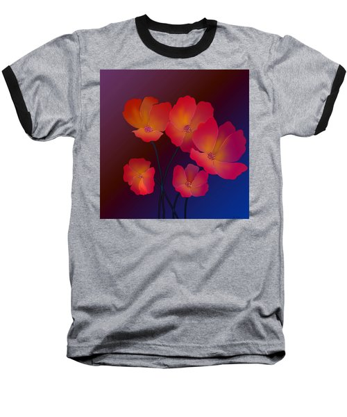 Baseball T-Shirt featuring the digital art Glorious by Latha Gokuldas Panicker