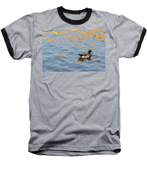 Baseball T-Shirt featuring the photograph Golden Ripples by Keith Armstrong