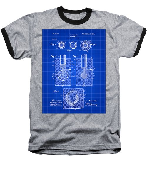Golf Ball Patent 1902 - Blue Baseball T-Shirt