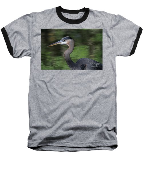 Great Blue Heron Baseball T-Shirt by Kevin McCarthy