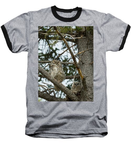 Great Horned Owls Baseball T-Shirt