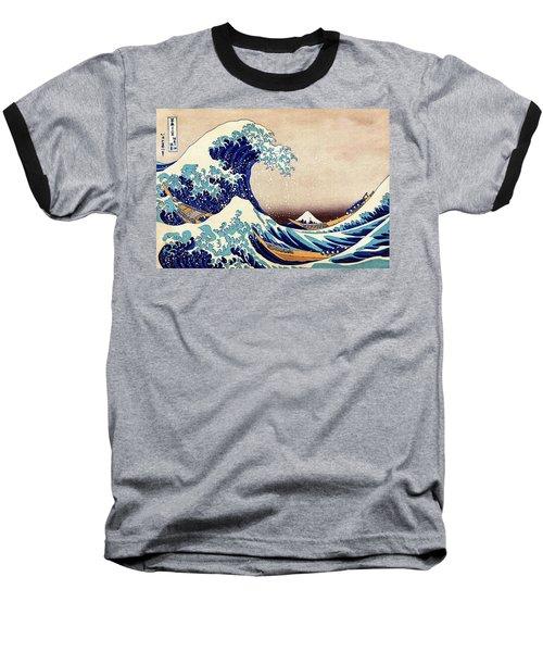 Great Wave Off Kanagawa Baseball T-Shirt